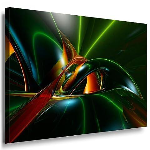 Kunstdruck Abstrakte 3D Grafik / Bild 100x70cm / Leinwandbild fertig auf Keilrahmen / Leinwandbilder, Wandbilder, Poster, Pop Art Gemälde, Kunst - Deko