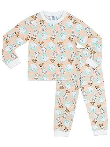 Comme des Bêtes - Ensemble De Pyjamas - Secret Life Of Pets - Fille - 6 a 7 Ans