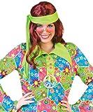 Kostüm Sunrise Dame Hippie Damenkostüm Kleid Gr. 44-46 für Karneval, Fasching, Halloween und Party / Flower Power Disco Show