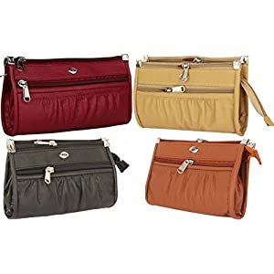 Rapid Costore Pu Leather Women's & Girls Combo Of 4 Clutches – Maroon Pink Tan Black