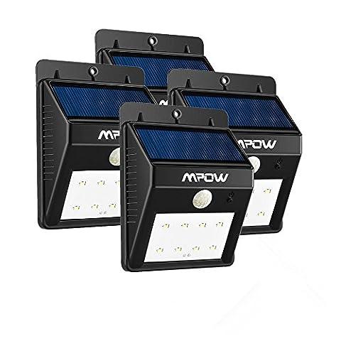 [4*PACK] 8 LED eclairage exterieur imperméable, Mpow eclairage terrasse Sans