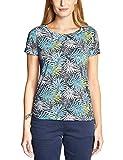 CECIL Damen 313490 Calu T-Shirt per pack Mehrfarbig (deep blue 30128), Small (Herstellergröße:S)