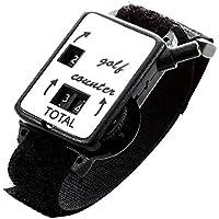 Reloj del contador - TOOGOO(R)Cuenta de guardian de puntuacion de movimiento de club de golf Reloj del contador de tiro de putt w/ Pulsera Banda Negro