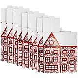 com-four® 9X Deko Geschenkbox aus Pappe, große DIY Schachteln für Geschenke zu Weihnachten, Nikolaus und Advent (09 Stück - Groß)