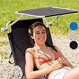 TecTake Gartenliege Sonnenliege Strandliege Freizeitliege mit Sonnendach 190cm beige für TecTake Gartenliege Sonnenliege Strandliege Freizeitliege mit Sonnendach 190cm beige