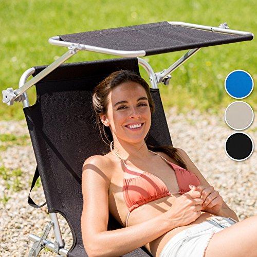 TecTake Gartenliege Sonnenliege (Blau) - 7