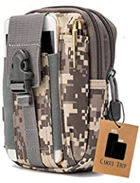 CARRY TRIP Tactical Molle Pouch Belt Waist Pack Bag Small Pocket Military Waist Pack Running Pouch Travel Camping...