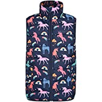 Mountain Warehouse Rocko Kids Printed Padded Gilet - Water Resistant Bodywarmer, Microfibre Childrens Jacket, Insulated Vest - for Cycling, Hiking, Running