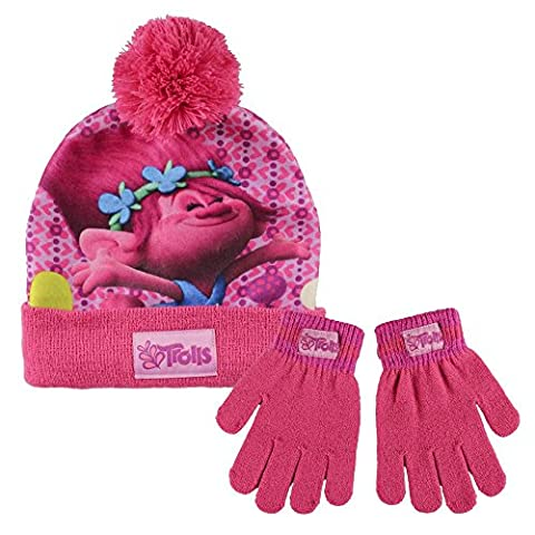 Girls Character Stretch Hat And Gloves 2 Piece Set Kids