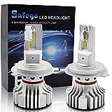 H4 LED Kit Lampadine Faro Auto - Safego Hi/Lo 72W 6000LM Kit Conversione LED Automatico Chip LED Sostituisci per Luci Alogene Auto o Lampadine HID 12V