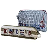 Best Beach Bags For Moms - Grasslands Road Nautical Cosmetic Bag Assortment, Set of Review