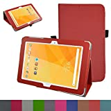 """Acer Iconia One 10 B3-A20 Case,Mama Mouth PU Leather Folio 2-folding Stand Cover with Stylus Holder for 10.1"""" Acer Iconia One 10 B3-A20 Android Tablet"""