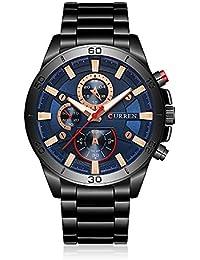 a3e4a0be672 CURREN Luminous Stainless Steel Men Watch Quartz Water-Proof Man Business  Wristwatch Chrono Masculino Relogio