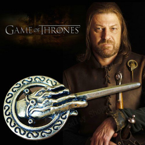 Kauf 2 und bekomme 1 gratis !7 cm Large Antique Washed Bronze king hand pin Hochwertig Game of Thrones Brosche, Hand To The King Tywin Lannister, verschiedene Designs, Modeschmuck, 7 (Hunde Kostüm Me Für Despicable Minion)