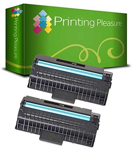 Preisvergleich Produktbild Printing Pleasure ML-1710D3 2er Set Toner kompatibel für Samsung ML-1500/ML-1510/ML-1515/ML-1520/ML-1710/ML-1720/ML-1740/ML-1745/ML-1750/ML-1755, schwarz