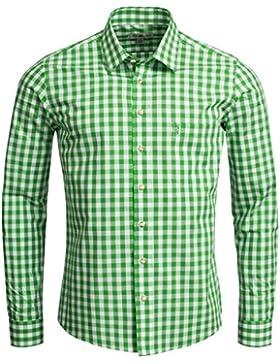 Almsach Trachtenhemd Slim Fit in Hellgrün