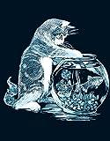 KSG - PPSF6 - Peinture Au Numéro - Motif Le Chat Pêcheur - 20 x 25 Cm - Scraper - Argent