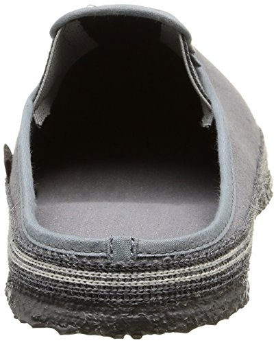 Giesswein Petersdorf, Chaussons Mules Doublé Chaud Homme Gris (017 Schiefer)