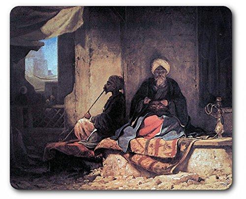 Preisvergleich Produktbild 1art1 89088 Carl Spitzweg - Im Türkischen Basar, 1860, Detail Mauspad 23 x 19 cm