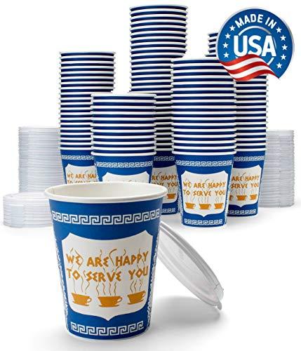 NY Kaffeebecher mit Deckel, 284 ml, 100 Stück