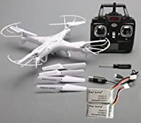 Syma New Version Syma X5C-1 2.4G 6 Axis GYRO HD Camera RC Quadcopter RTF RC Helicopter with 2.0MP Camera + 2pcs Mini Kitty Battery by mini kitty