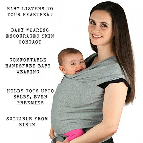 Babytragetuch aus Baumwolle in Premium Qualität | Mehrere Tragepositionen mit diesem weichem und leichtem Tragetuch von Geburt an - 2
