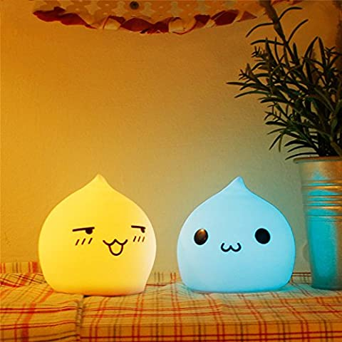 Nuovo adorabile gocce d' acqua in silicone colorato LED lampada da tavolo luce notturna per camera da letto decorazione