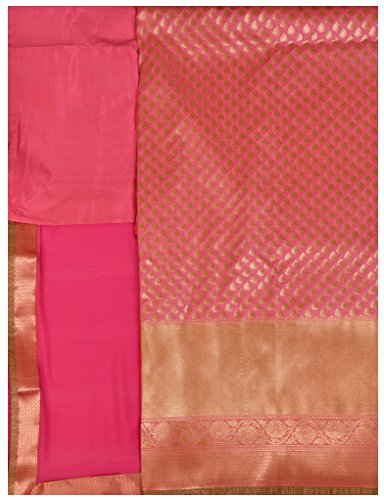Exotic India Banarasi Salwar Kameez Fabric with Zari-Woven Bootis All-Over and W...