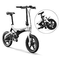 Lixada Bicicleta Eléctrica Plegable de 16 Pulgadas Power Assist Ciclomotor Bicicleta Eléctrica E-...