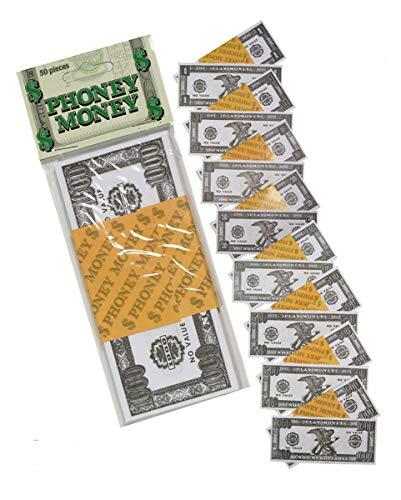 Horror-Shop 100 Dollar Spielgeld in Scheinen als Partydeko   Papier