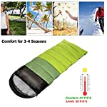 ieGeek Sleeping Bag, Ultra-light Outdoor Sleeping Bag, 220 x 75 cm, Easy to Carry, Lightweight, Compact, 4 Seasons for… 9