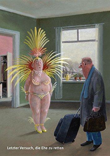 Postkarte A6 • 26068 ''Letzter Eherettungsversuch'' von Inkognito • Künstler: Gerhard Glück • Satire • Sex (Schwerpunkt Kostüm)