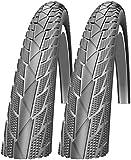 Impac Streetpac 26 x 1.75 Slick Mountain Bike Tyres (Made by Schwalbe) - Pair
