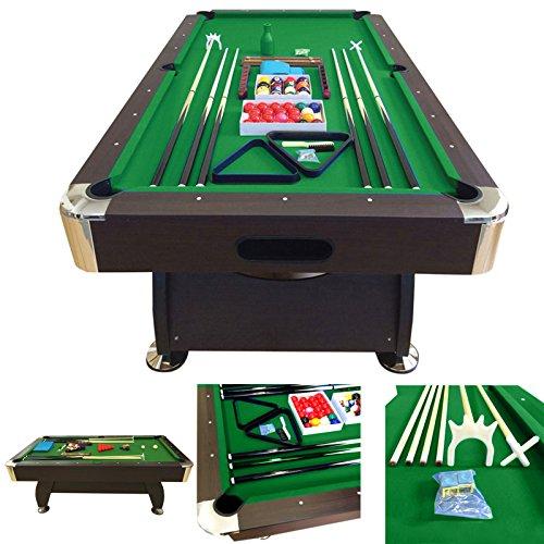 10-fuß-billardtisch (Billardtisch 8 ft Modell VINTAGE Grun Full Optional Billard Billard-Spiel Messung 220 x 110 cm neue)