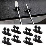 EX1 Auto Voiture USB Câble de Charge Support Crochet Organisateur Clip Accessoires (8 Pièces)