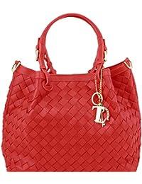 Tuscany Leather TL KeyLuck - Sac shopping en cuir tressé à main Sacs à bandoulière en cuir