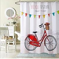 GYMNLJY Impermeabile poliestere stampa tenda oscurante plissettato di doccia vasca per bagno tagliato di appendere la tenda , 180*200cm