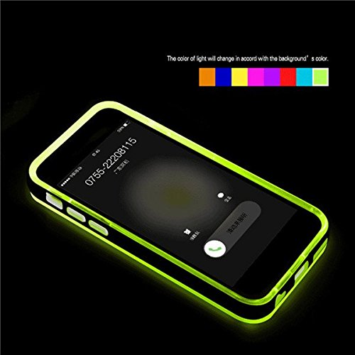 LED Flash Light Up Remind Case Cover Blink appels entrants LED pour l'iPhone 6 Plus vert