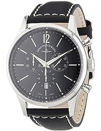 Zeno Watch Basel 6564-5030Q-i1 - Reloj analógico de cuarzo para hombre con correa de piel, color negro