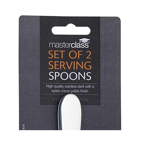 MasterClass Stainless Steel Serving Spoons, Silver, 2-Piece 4