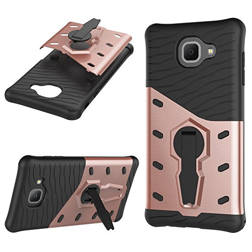 Heavy Duty Armor Denfender Back Cover 360 ° Drehbarer Stand Shockproof Case 2 in 1 PC + TPU Shell Cover für Samsung Galaxy J7 Max ( Color : Silver ) Red