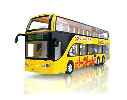 Diecast chinesischen Bus-Modell Double Decker Bus Spielzeug YELLOW