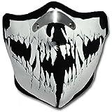 WINDMASK Neopren Biker Motorrad Maske Sturmmaske Skimaske - Monster Face