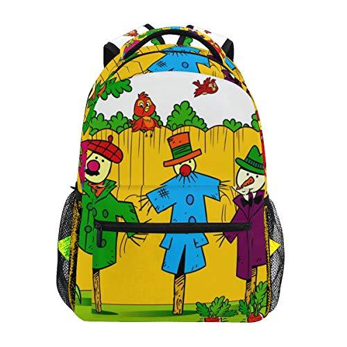 Ahomy Rucksack Vogelscheuchen im Garten Rucksack Schultasche für Mädchen Jungen Frauen Ideal Reisen Tag Schulrucksack