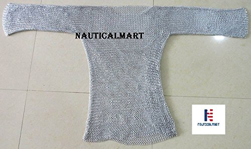 Nautisches Mart LARP Armour Mittelalter Aluminium CHAINMAIL Shirt SCA ()