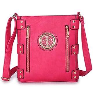 LeahWard Small Size Women's Chic Cute Little Cross Body Bag Nice Great Brand Across Body Purse Handbag 160512 160511 (FUCHSIA)