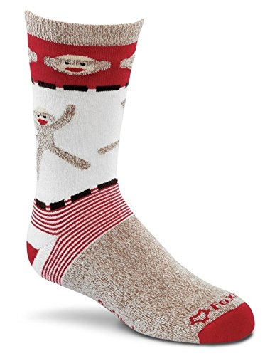 Fox River Kids rot Ferse Monkey motorfrei Merino Wolle Crew Socken, unisex, Brown Heather (River Socken Kids Fox)