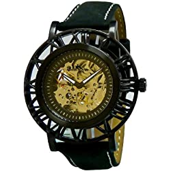 Adee Kaye Helm Pirate Herren Automatikwerk Mineral Glas Uhr AK2258-MIPB-MESH