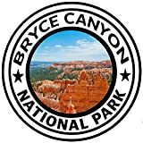 Bryce Canyon National Park Round Sticker Auto Decal Car Truck Window Travel 8 Inch In Width