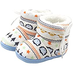 Scarpe Bambini , feiXIANG Bambino neonato Baby stampa stivali soft suola stivali precamminatore scarpe calde (blu)